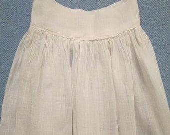 Vintage/ Antique Baby Slip/ Doll Clothes - Sheer White Batiste Slip - Early 1900s