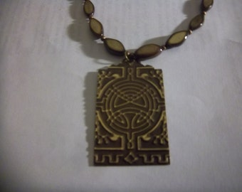 Yggdrasil is that you? OOAK Necklace Brass Shell Copper Brown