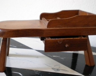 Vintage cobblers bench style doll end table dollhouse