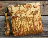 The beauty of Nature Wristlet / Ferns / Dragonflies / Butterflies