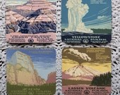 Let's Go To The Park! -- 1930's WPA National Park Posters Coaster Set