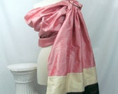 Silk Double Layer Ring Sling Dupioni Baby Carrier - Neopolitan - DVD included - Ready to Ship