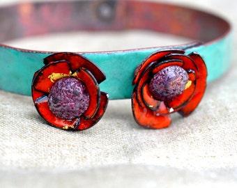 Mill End Bracelet - Red 'Poppy'
