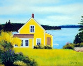 Maine Summer House Set of 6 Art Cards w Envelopes