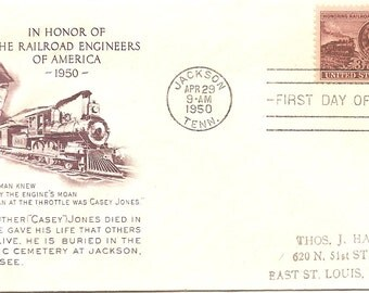 1950 First Day Issue Honoring Railraod Engineers of America
