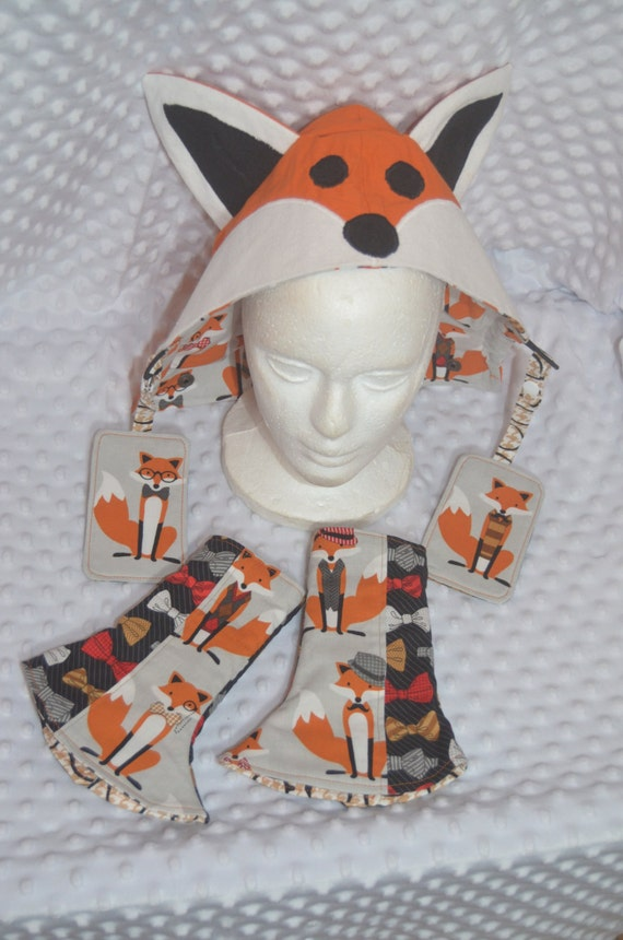 Foxy Face BabyWearing Set  fit Tula, Ergo, Beco, SSC