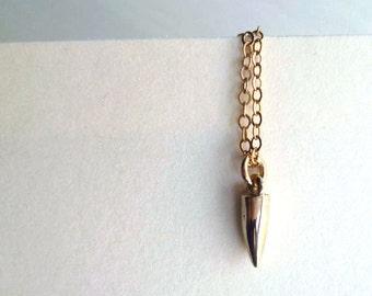 Spiked Necklace - Brass Spiked Necklace - Spiked Charm Necklace - Minimalist Necklace - Urban Necklace - Gifts Under 25 - Andyshouse - BKLN