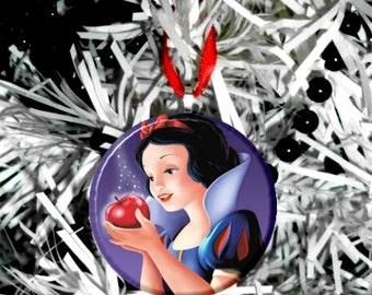 Snow White Poison Apple Christmas Tree Ornament