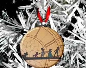 Disney Peter Pan Clock B Christmas Tree Ornament