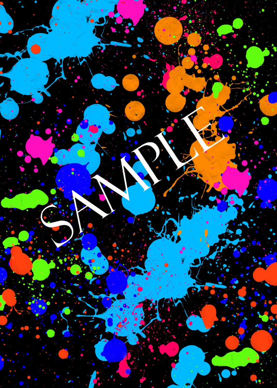 Digital download Neon Paint Splatter Background Paper ...  Digital downloa...