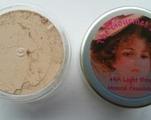 LIGHT BEIGE #4A Sheer Bare Foundation Cover Minerals 100 All Natural Mineral Makeup Full Size Sample Jar Bulk