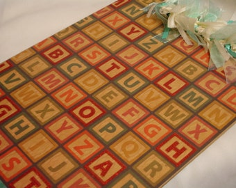 CLEARANCE Sale ALPHABET BLOCKS Clipboard
