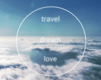 Cloud Photography, White Soft Clouds, Blues, Airplane Ride, Fly Away, Travel, Dream, Love, Sky, Jetstream, Nature, Inspiring,  fPOE