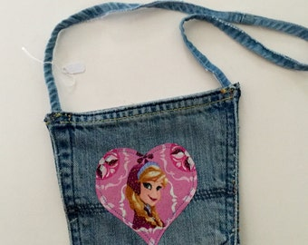 Recycled Blue Jean Pocket Purse