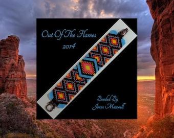 Bead PATTERN Yuma Cuff Bracelet Peyote Brick Stitch