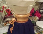 Reusable cloth Chemex filter.  Your choice of square or circle style.