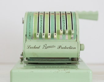SALE – Vintage Mint Green Chicago Paymaster Check Writing Machine