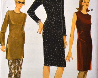 Sewing Pattern Vogue 9721 Misses' Dress, Tunic, Skirt  Uncut Complete Size 6-10 OR 12-16