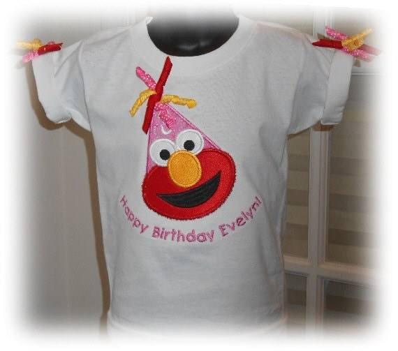 Elmo 2nd Birthday Shirts Girls 1st 3rd 4th Hat Personalized White T
