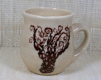 Handmade Ceramic Coffee Mug / Tree Decor / Coffee Cup / Tea Cup / Tree Mug / Unique Mug / Hand Painted Mug
