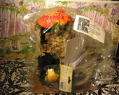 Orange Medium Mushroom Hut Fairy House Kit Made out of Birch Bark Great for Children Holiday Gift or Birthday Parties