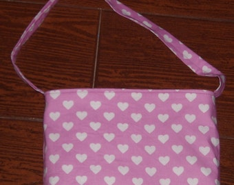 Peony hearts all over toddler purse