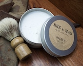 MENS Shave Set | Shaving Soap | Traditional Wet Shaving | 4 oz All-Natural Shave Soap + Shave Brush | Perfect kit for all skin types