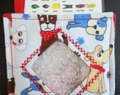 I Spy Bag - Mini with SEWN Word List and Detachable PICTURE LIST- Puppy Paws