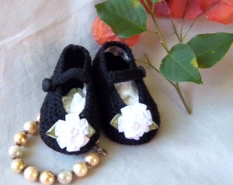 Baby Bootie- Creme Brulee Luxury Delicious Mary Jane Bootie-Victorian