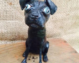 Larger personalized pet sculpture pet portrait for the dog lover