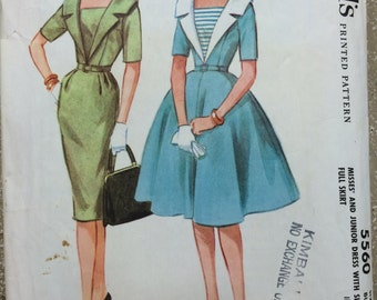 Adorable Vintage 1960 McCall's 5560 Size 11 Bust 31.5