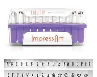 Impress Art 4mm Uppercase Lollipop Metal Stamp Set