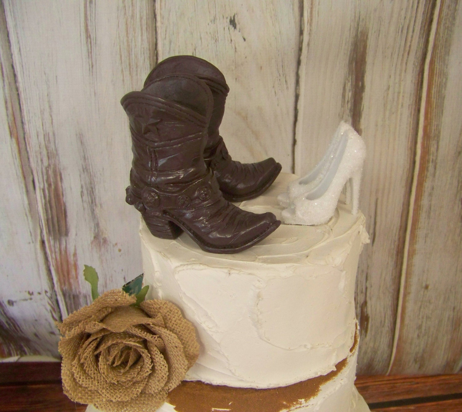 boot wedding cake topper cake topper wedding cake topper boot and stiletto cake 12096