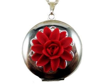 Dahlia Locket Necklace -  Dahlia Jewelry