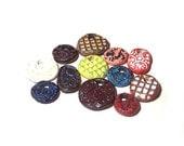 RESERVED for Teri--- Pendant Bead Mix Ceramic Assortment of Twelve