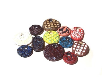 Pendant Bead Mix Ceramic Assortment of Twelve