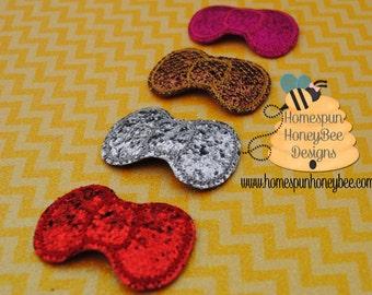 Baby Girl Snap Clip Set - Hair Clips - Top Knot - Gold, Silver Bang Clip - 2 inch Glitter Bow - Bun Clip - Boutique Hair Bow for Headband