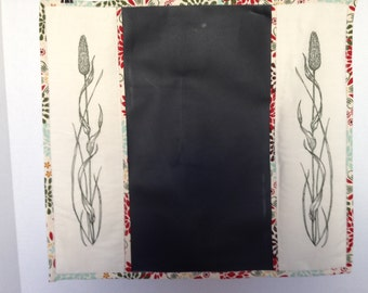 Chalkboard-Green, Red & Brown on Ivory (Chalk 1)