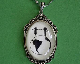 Graduation Gift // Sale 20% Off // WORLD TOUR Necklace, pendant on chain - Silhouette Jewelry // Coupon Code SALE20