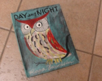 Vintage 1960 Day and Night by Roger Duvoisin Childrens Book
