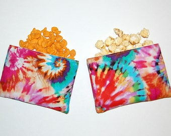 TIE DYE - SET of 2 Eco Friendly Reusable Snack Bags