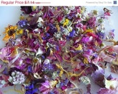 SUPER SALE Naturally Dried Organic Flower Petal Mix  - Wedding Confetti
