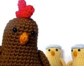 Chicken & Chicks Crochet Amigurumi Patterns PDF