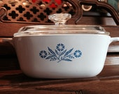 Corning Ware Cornflower Blue 7 inch Casserole Dish with lid