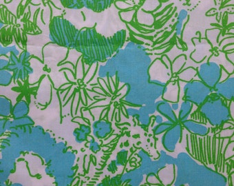 """limeade it's a zoo  poplin cotton fabric square 18""""x18"""" ~ lilly pulitzer"""