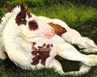 Horse Art, Western Art, Paint Horse Horse Print, Horse Gifts, Horse Painting, Western decor, Western horse, horse decor, nursery decor