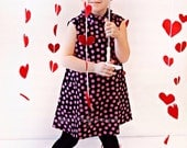 Retro 1970's Style Tent Dress, Valentine, children girls toddler