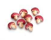 polymer clay toadstool beads
