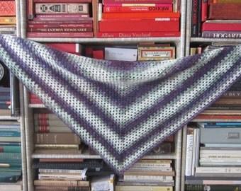 PDF Crochet Pattern - Beginner's Triangle Shawl