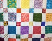 Handmade shower curtain made to order patchwork